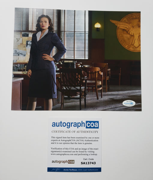 Hayley Atwell Agent Carter Signed Autograph 8x10 ACOA Photo - Outlaw Hobbies Authentic Autographs