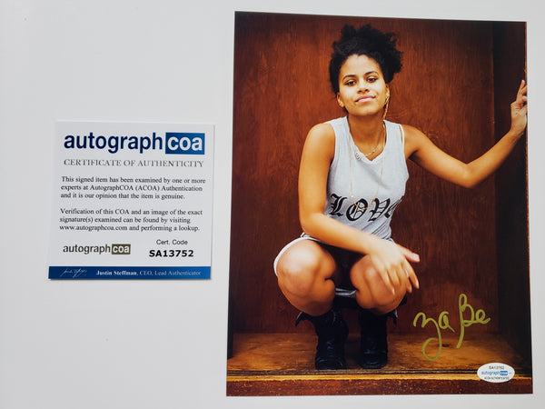 Zazie Beetz Domino Deadpool Signed Autograph 8x10 Photo #3 - Outlaw Hobbies Authentic Autographs