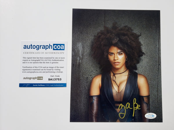 Zazie Beetz Domino Deadpool Signed Autograph 8x10 Photo #4 - Outlaw Hobbies Authentic Autographs