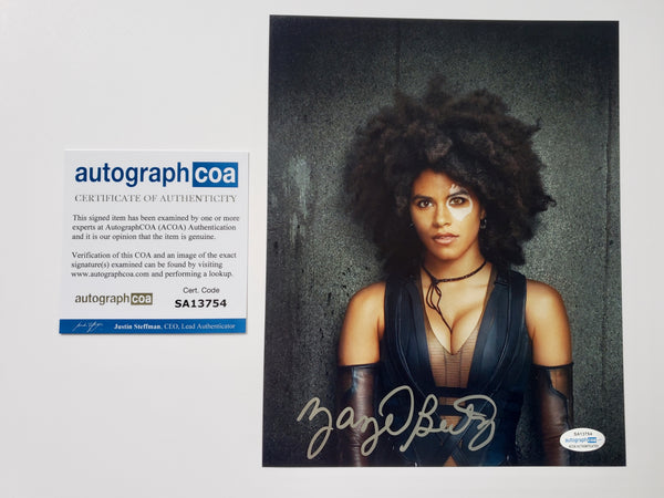 Zazie Beetz Domino Deadpool Signed Autograph 8x10 Photo #5