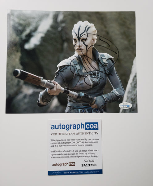 Sofia Boutella Star Trek Signed Autograph 8x10 Photo ACOA #2 - Outlaw Hobbies Authentic Autographs