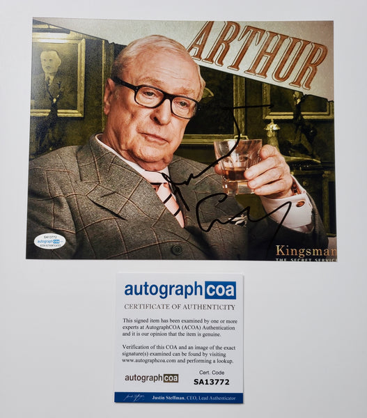Michael Caine Kingsman Signed Autograph 8x10 Photo ACOA #2 - Outlaw Hobbies Authentic Autographs