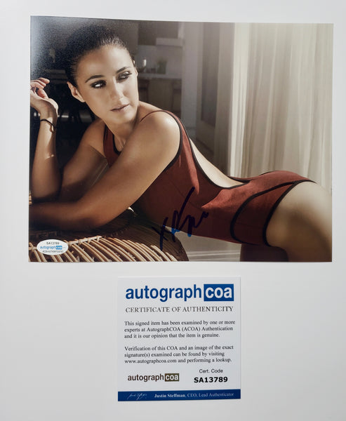Emmanuelle Chriqui Sexy Signed Autograph 8x10 Photo ACOA #5 - Outlaw Hobbies Authentic Autographs