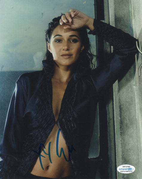 Emmanuelle Chriqui Sexy Signed Autograph 8x10 Photo ACOA #6 - Outlaw Hobbies Authentic Autographs