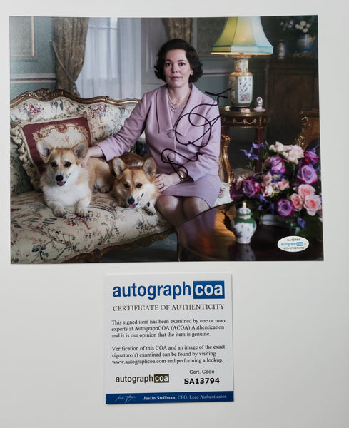 Olivia Colman The Crown Signed Autograph 8x10 Photo ACOA #4 - Outlaw Hobbies Authentic Autographs