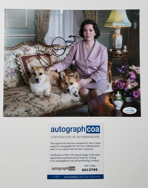 Olivia Colman The Crown Signed Autograph 8x10 Photo ACOA #5 - Outlaw Hobbies Authentic Autographs