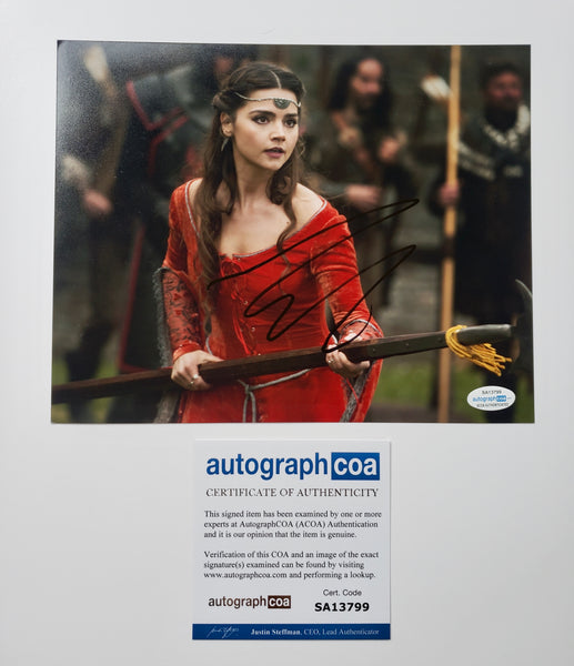 Jenna Louise Coleman Doctor Who Signed Autograph 8x10 Photo ACOA - Outlaw Hobbies Authentic Autographs