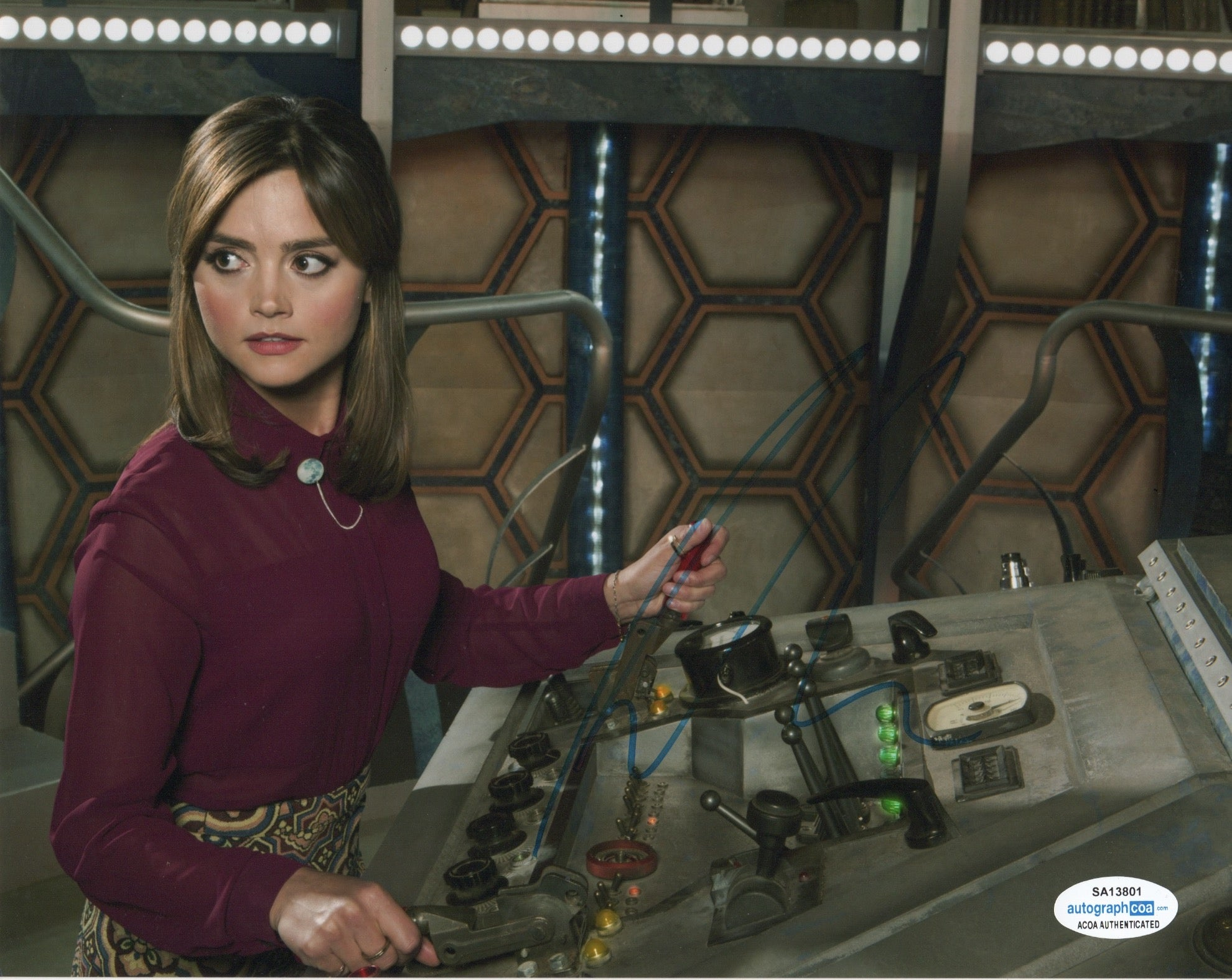Jenna Louise Coleman Doctor Who Signed Autograph 8x10 Photo ACOA #3 - Outlaw Hobbies Authentic Autographs