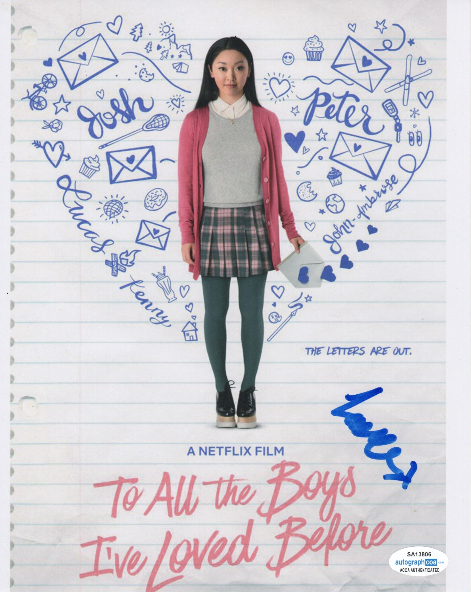 Lana Condor To All The Boys Signed Autograph 8x10 Photo ACOA #4 - Outlaw Hobbies Authentic Autographs