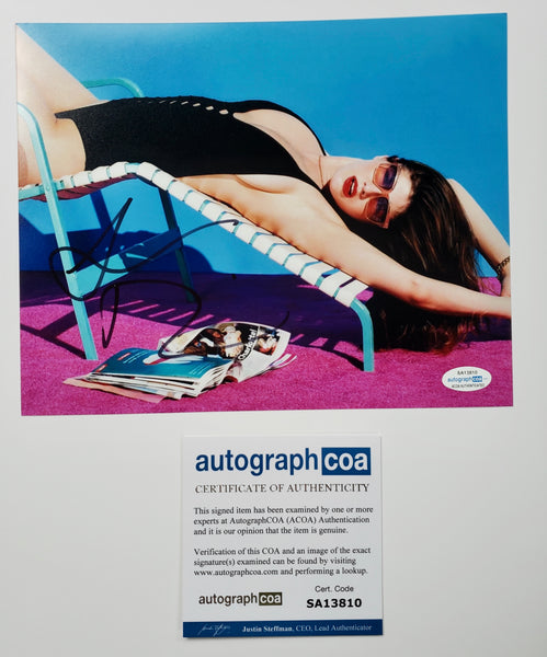 Alexandra Daddario Sexy Signed Autograph 8x10 Photo #2 - Outlaw Hobbies Authentic Autographs