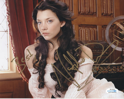 Natalie Dormer Game of Thrones ACOA Signed utograph 8x10 PHoto
