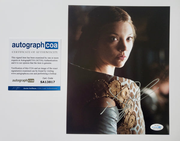 Natalie Dormer Game of Thrones ACOA Signed Autograph 8x10 Photo #3 - Outlaw Hobbies Authentic Autographs