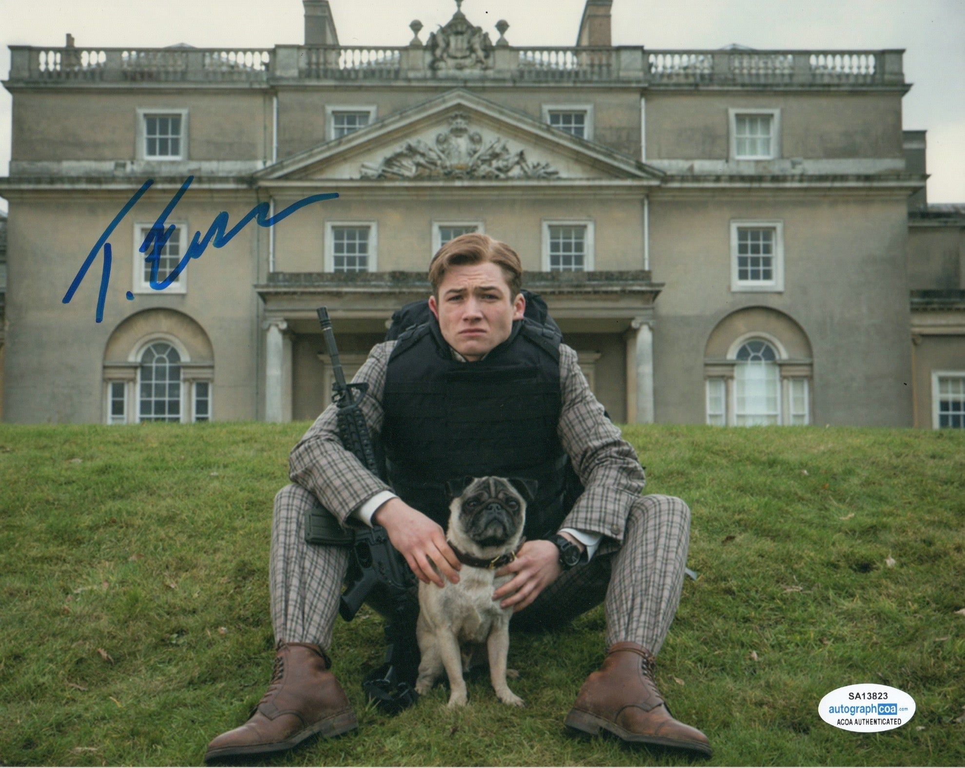 Taron Egerton Kingsman Signed Autograph 8x10 Photo - Outlaw Hobbies Authentic Autographs