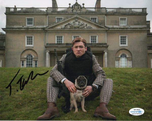 Taron Egerton Kingsman Signed Autograph 8x10 Photo #2 - Outlaw Hobbies Authentic Autographs