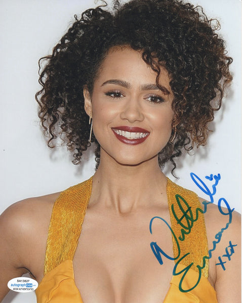 Nathalie Emmanuelle Sexy Game of Thrones Signed Autograph 8x10 Photo - Outlaw Hobbies Authentic Autographs