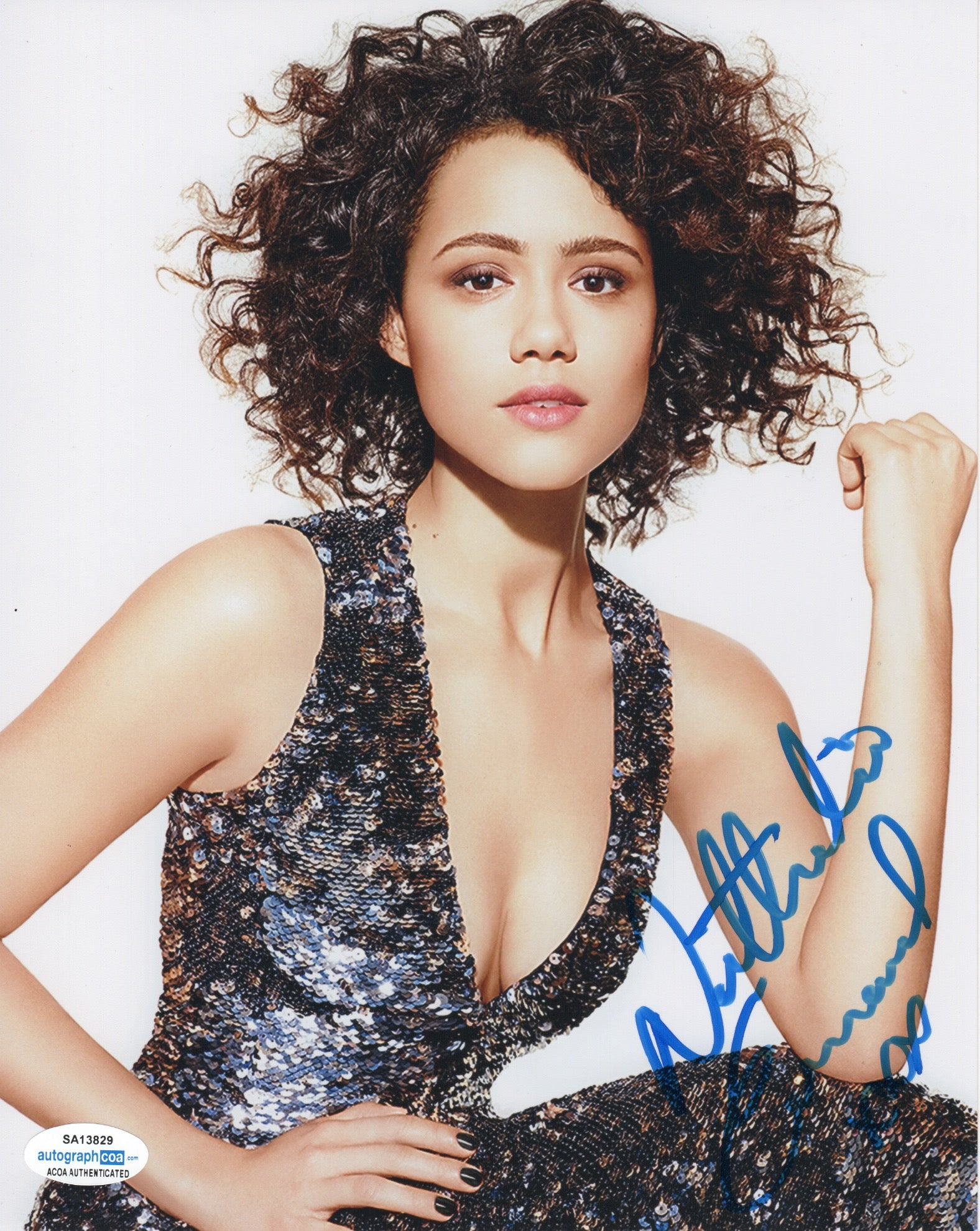 Nathalie Emmanuelle Sexy Game of Thrones Signed Autograph 8x10 Photo #3 - Outlaw Hobbies Authentic Autographs
