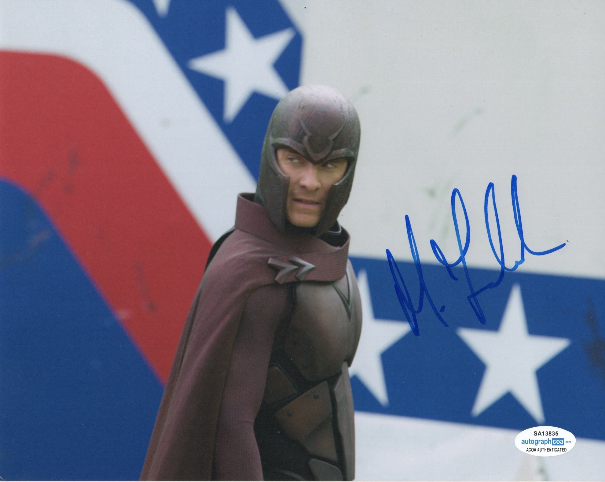 Michael Fassbender XMen Magneto Signed Autograph 8x10 Photo ACOA - Outlaw Hobbies Authentic Autographs