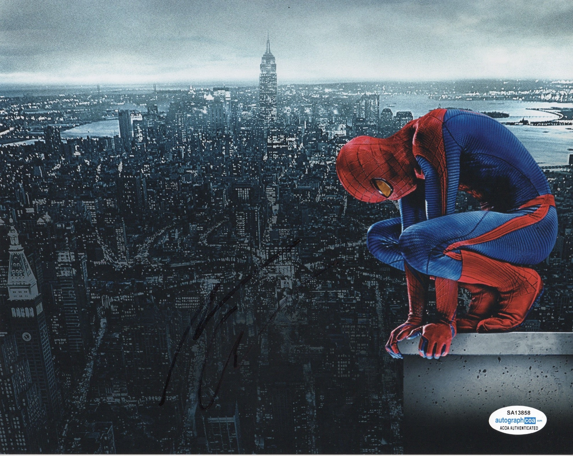 Andrew Garfield Spiderman Signed Autograph 8x10 Photo ACOA #3 - Outlaw Hobbies Authentic Autographs