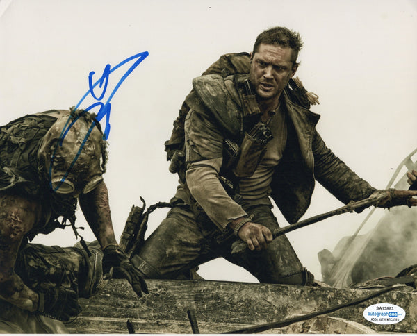 Tom Hardy Mad Max Signed Autograph 8x10 Photo ACOA - Outlaw Hobbies Authentic Autographs