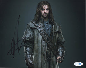 Aidan Turner The Hobbit Signed Autograph 8x10 Photo ACOA - Outlaw Hobbies Authentic Autographs