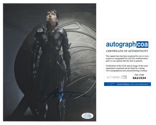 Antje Traue Man of Steel Signed Autograph 8x10 Photo ACOA - Outlaw Hobbies Authentic Autographs