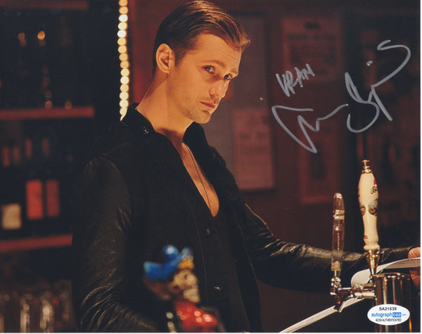 Alexander Skarsgard True Blood Signed Autograph 8x10 Photo ACOA - Outlaw Hobbies Authentic Autographs