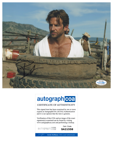Bradley Cooper A-Team Signed Autograph 8x10 Photo ACOA