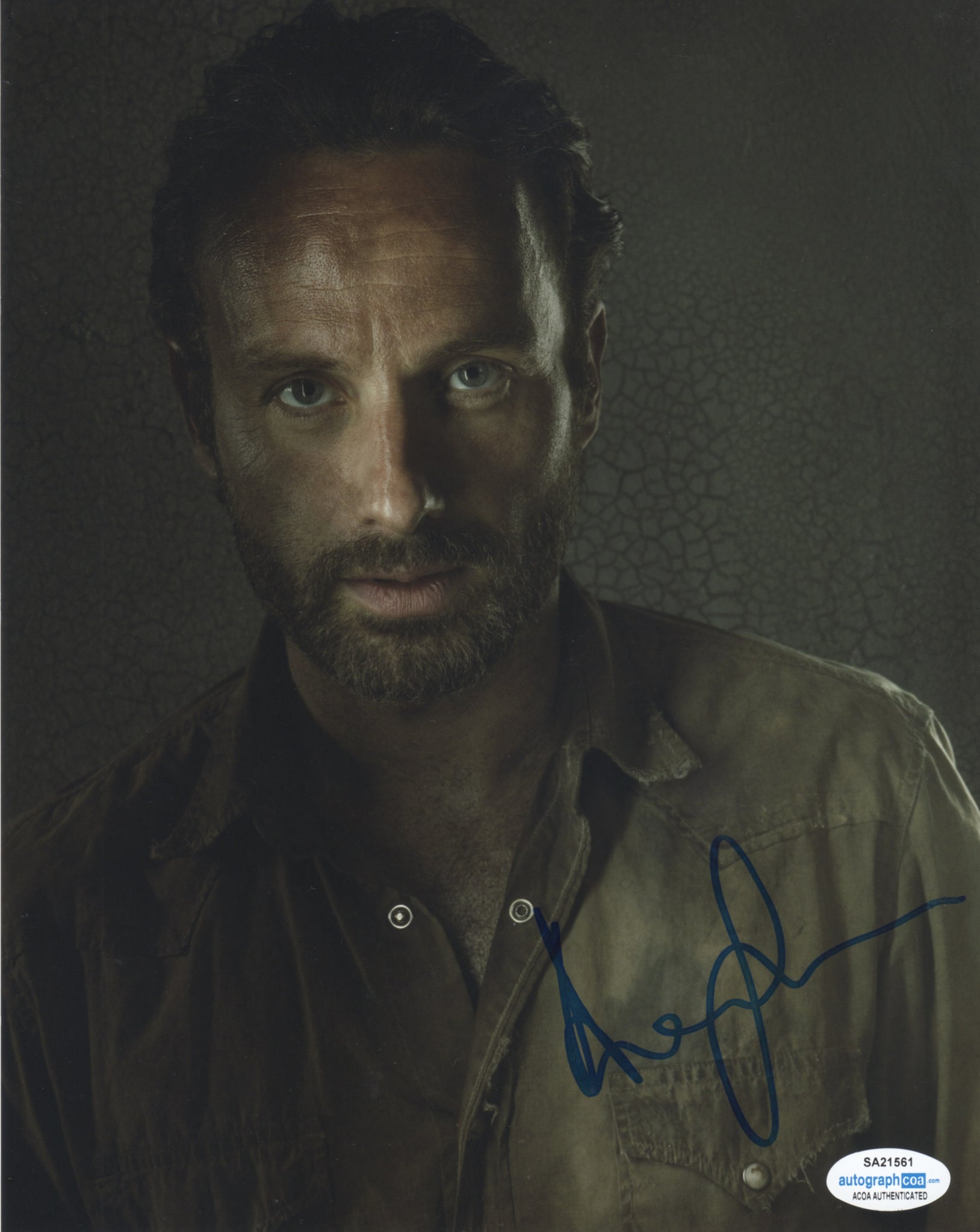 Andrew Lincoln Walking Dead Signed Autograph 8x10 Photo ACOA - Outlaw Hobbies Authentic Autographs