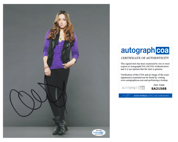 Chloe Bennet Agents of Shield Signed Autograph 8x10 Photo ACOA #3 - Outlaw Hobbies Authentic Autographs