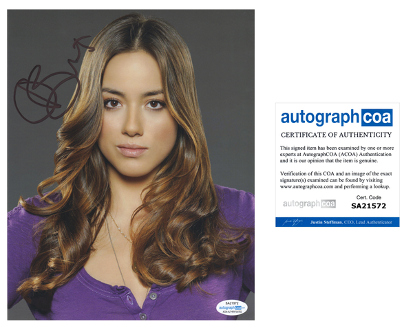Chloe Bennet Agents of Shield Signed Autograph 8x10 Photo ACOA #4 - Outlaw Hobbies Authentic Autographs