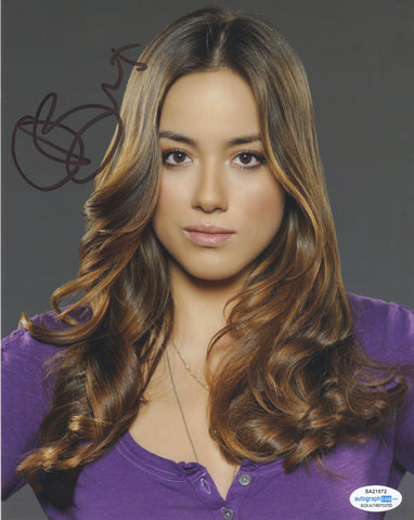 Chloe Bennet Agents of Shield Signed Autograph 8x10 Photo ACOA #4