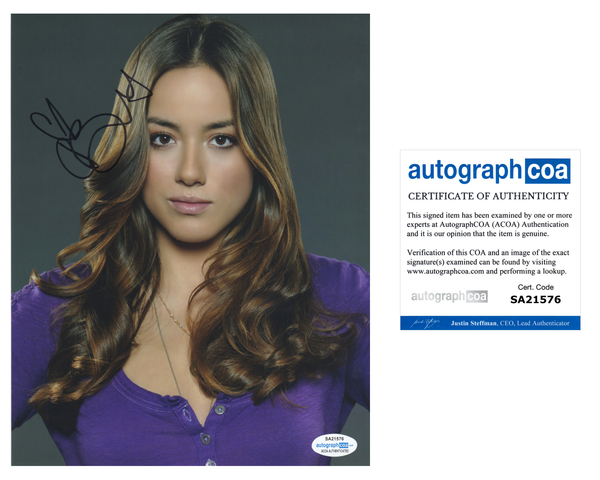 Chloe Bennet Agents of Shield Signed Autograph 8x10 Photo ACOA #6 - Outlaw Hobbies Authentic Autographs