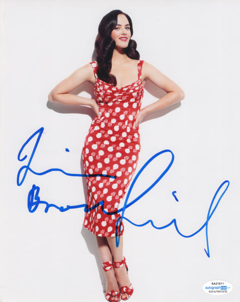 Jessica Brown Findlay Sexy Signed Autograph 8x10 Photo ACOA  #16