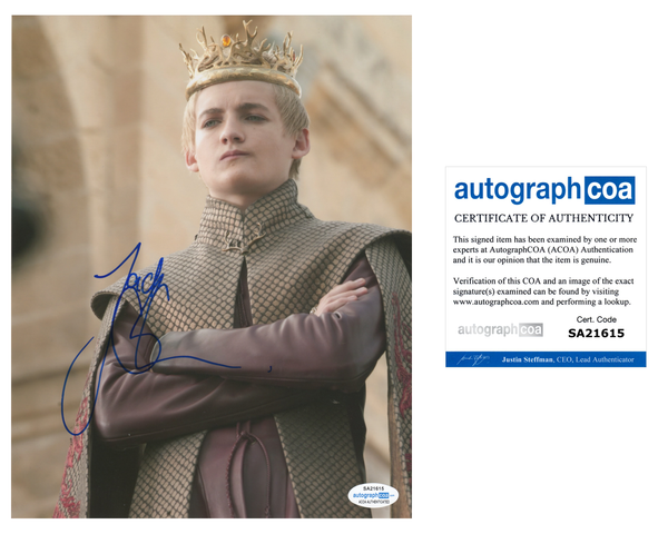 Jack Gleeson Game of Thrones Signed Autograph 8x10 Photo ACOA #10