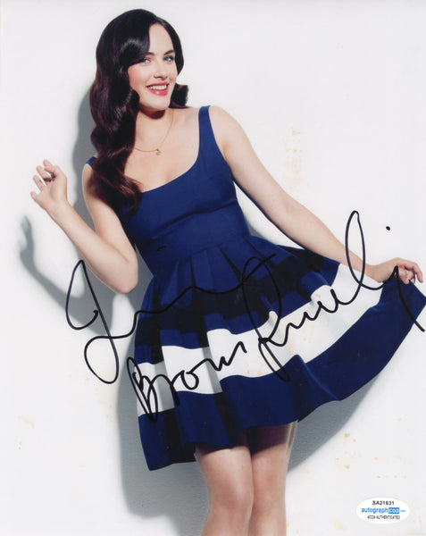 Jessica Brown Findlay Sexy Signed Autograph 8x10 Photo ACOA  #17 - Outlaw Hobbies Authentic Autographs