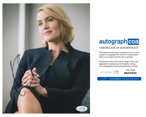 Kate Winslet Divergent Signed Autograph 8x10 Photo ACOA - Outlaw Hobbies Authentic Autographs