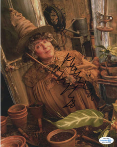 Miriam Margolyes Harry Potter Signed Autograph 8x10 Photo ACOA Sprout