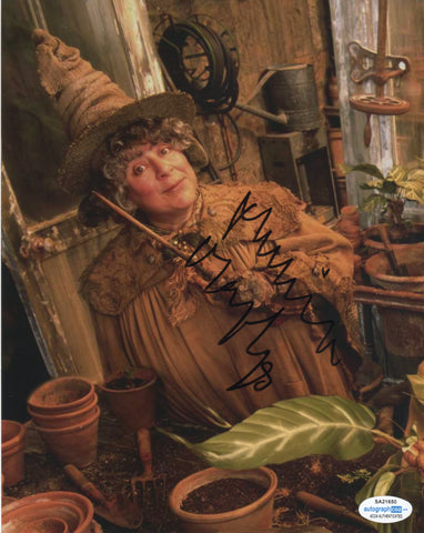 Miriam Margolyes Harry Potter Signed Autograph 8x10 Photo ACOA Sprout - Outlaw Hobbies Authentic Autographs