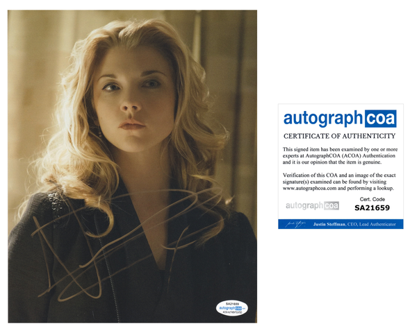 Natalie Dormer Sexy Elementary Signed Autograph 8x10 Photo #26 - Outlaw Hobbies Authentic Autographs