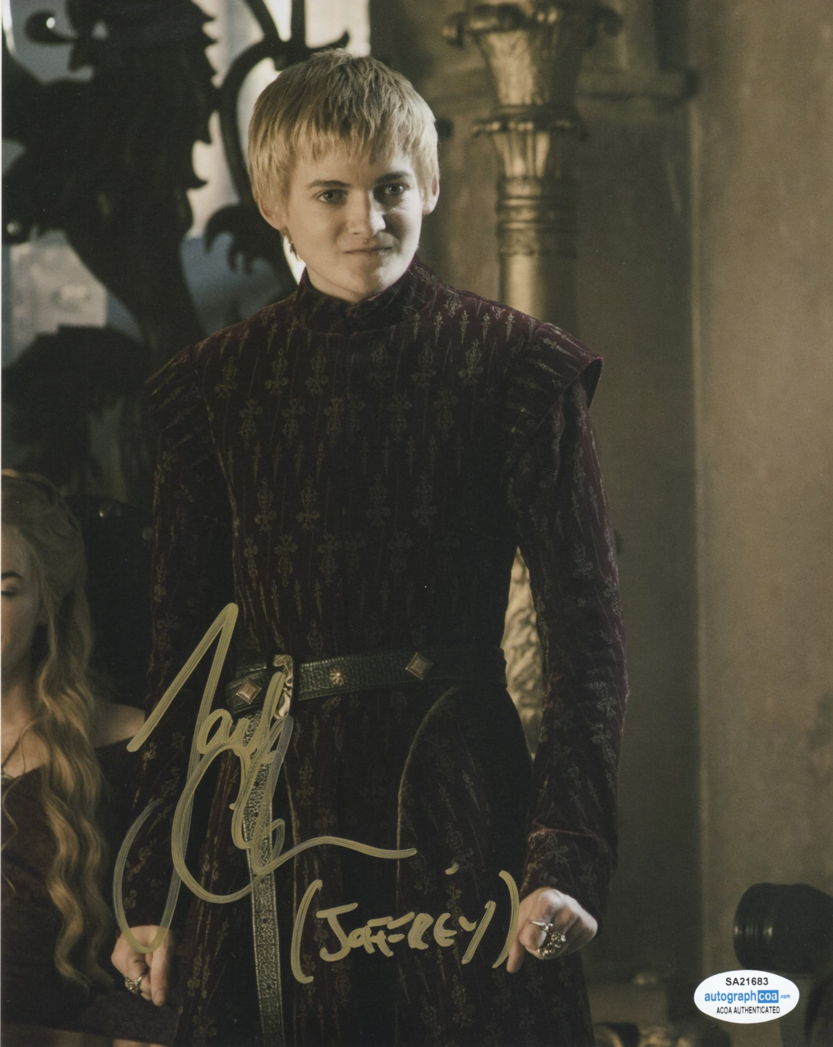 Jack Gleeson Game of Thrones Signed Autograph 8x10 Photo