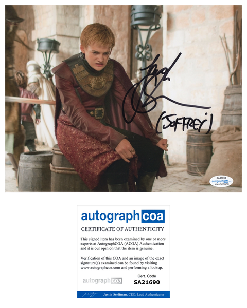 Jack Gleeson Game of Thrones Signed Autograph 8x10 Photo #10 - Outlaw Hobbies Authentic Autographs
