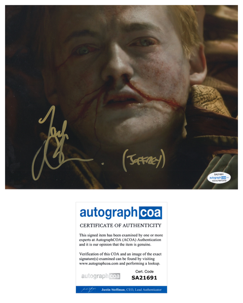 Jack Gleeson Game of Thrones Signed Autograph 8x10 Photo #11