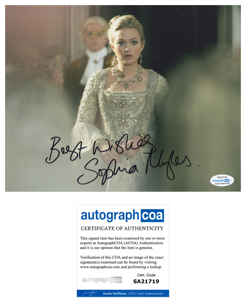 Sophia Myles Doctor Who Signed Autograph 8x10 Photo ACOA - Outlaw Hobbies Authentic Autographs