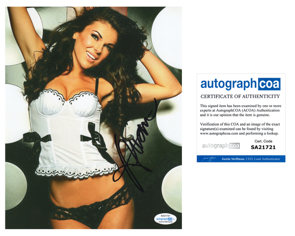 Serinda Swan Sexy Signed Autograph 8x10 Photo ACOA #6 - Outlaw Hobbies Authentic Autographs