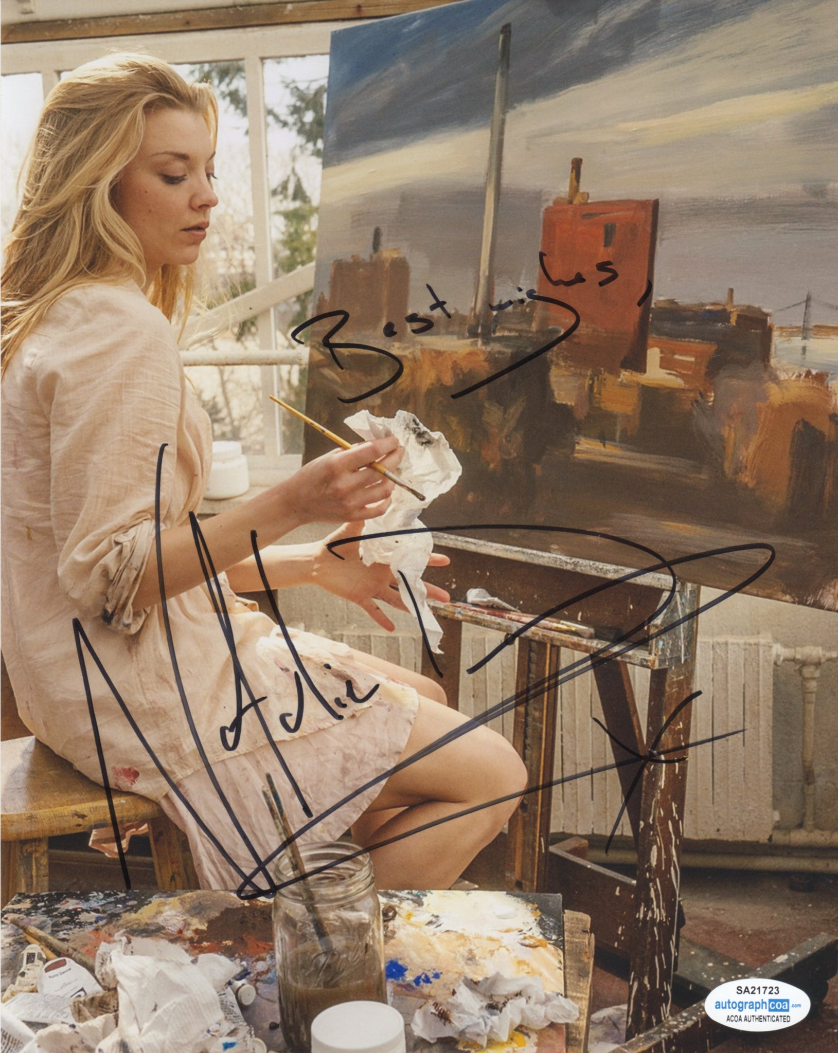 Natalie Dormer Sexy Elementary Signed Autograph 8x10 Photo #27 - Outlaw Hobbies Authentic Autographs