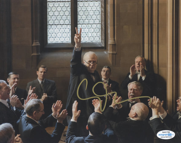 Gary Oldman Churchill Signed Autograph 8x10 Photo ACOA - Outlaw Hobbies Authentic Autographs
