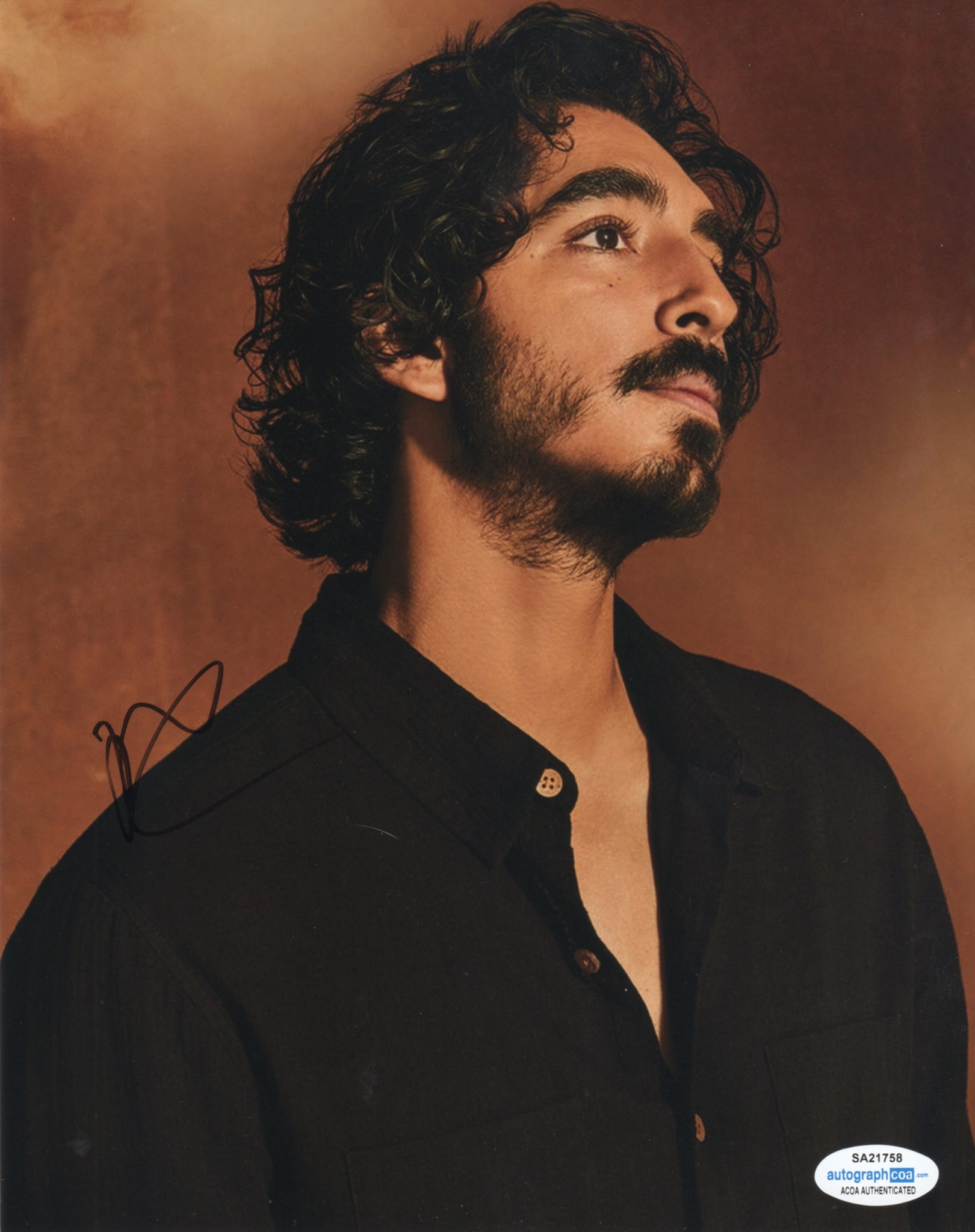 Dev Patel Signed Autograph 8x10 Photo ACOA #2 - Outlaw Hobbies Authentic Autographs