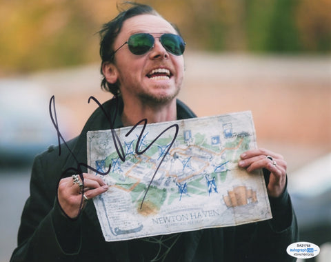 Simon Pegg End of World Signed Autograph 8x10 Photo ACOA #4 - Outlaw Hobbies Authentic Autographs