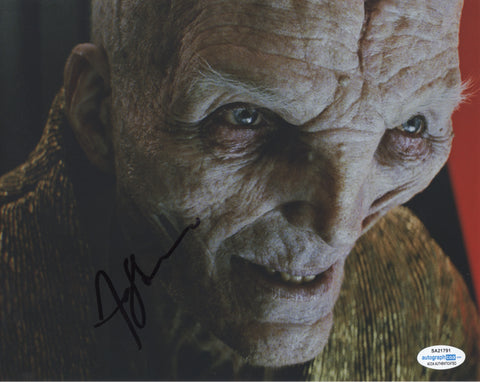 Andy Serkis Star Wars Signed Autograph 8x10 Photo ACOA Snoke