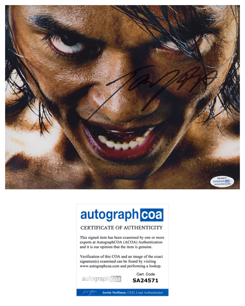 Tony Jaa Ong-Bak Signed Autograph 8x10 Photo ACOA Authentic #5 - Outlaw Hobbies Authentic Autographs